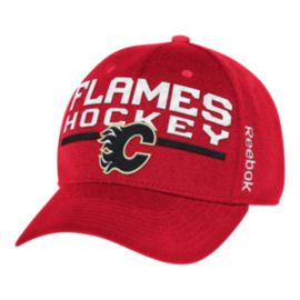 Calgary Flames Locker Room Structured Flex Cap