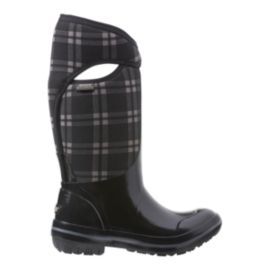 Bogs Women's Plimsoll Plaid Tall Winter Boots - Black