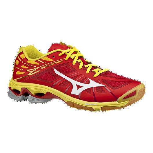 8c80c4c3 Mizuno Men's Wave Lightning Z Indoor Court Shoes - Red/Yellow | Sport Chek