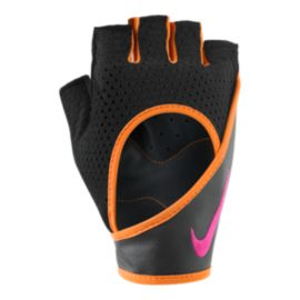 Nike Women's Performance Wrap Training Gloves - Orange