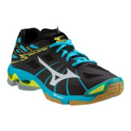 Mizuno Women's Wave Lightning Z Indoor Court Shoes - Black/Blue/Yellow