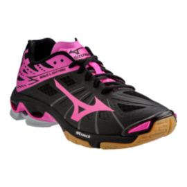 Mizuno Women's Wave Lightning Z Indoor Court Shoes - Black/Pink