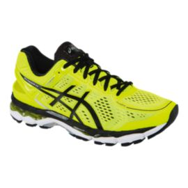 ASICS Men's Gel Kayano 22 Running Shoes - Yellow/Black