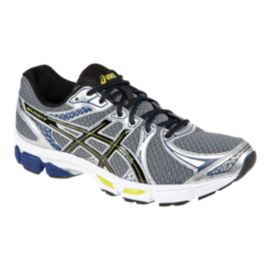 ASICS Men's Gel Exalt 2 Running Shoes - Silver/Black/Blue