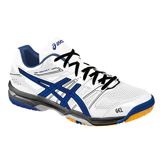 ASICS Men's Gel Rocket 7 Indoor Court Shoes - White/Blue | Sport Chek