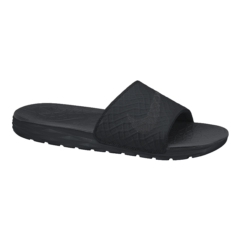 Nike Men s Benassi Solarsoft Slide 2 Sandals - Black  03ff736a7