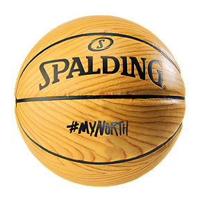 Spalding Wood Grain My North Basketball Size 7