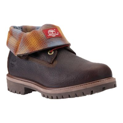 Timberland Men's Icon Roll-Top Boots - Brown/Plaid