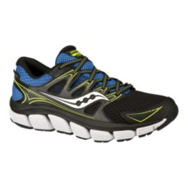 Saucony Men's Propel Vista RunDry Running Shoes - Black/Blue/Lime Green
