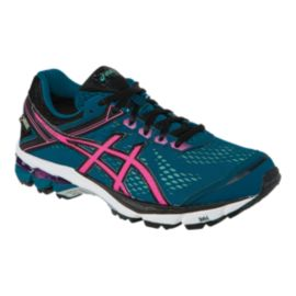 ASICS Women's GT-1000 4 GTX Running Shoes - Navy Blue/Pink/Black