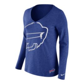 Buffalo Bills Tri Logo Wrap Long Sleeve Women's Tee