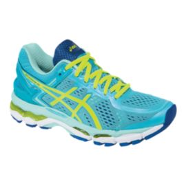 7695a6da64a4 ASICS Women s Gel Kayano 22 Running Shoes - Ice Green Blue