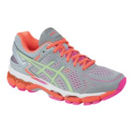 ASICS Women's Gel Kayano 22 Running Shoes - Silver Grey/Berry Orange