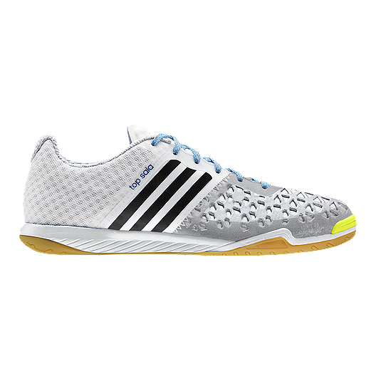 acbdc739b adidas Men's VS Ace 15.2 Topsala Indoor Soccer Shoes - White/Grey/Blue |  Sport Chek