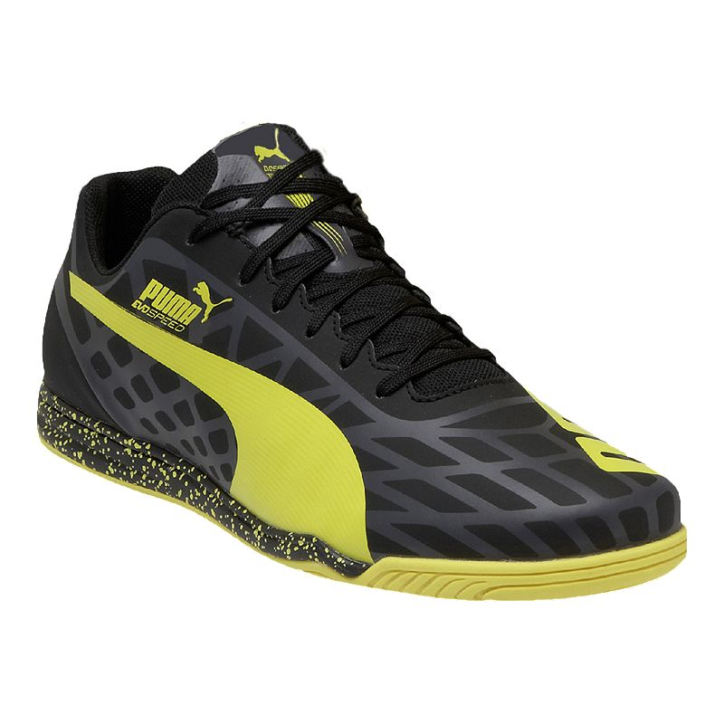 Puma Men S Evospeed Star Iv Indoor Soccer Shoes Black Yellow