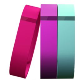 Fitbit Flex 3-Pack Wristbands - Violet, Teal, Pink Small