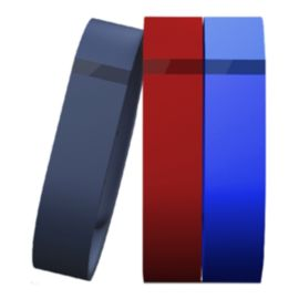 Fitbit Flex 3-Pack Wristbands - Navy, Red, Blue Small