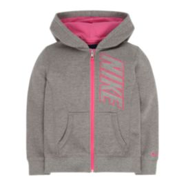 Nike Girls' BF Graphic Full Zip Hoodie
