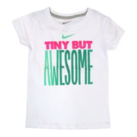 Nike Tiny But Awesome Girls' Shorts Sleeve Tee