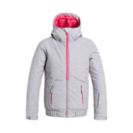 Roxy Girls' Valley Hooded Insulated Winter Jacket