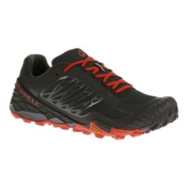 Merrell Men's All Out Terra Ice Trail-Running Shoes - Black/Red