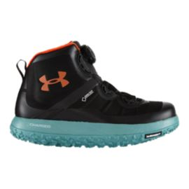 Under Armour Men's Fat Tire GTX Mid Trail-Running Shoes - Lead/Black/Orange