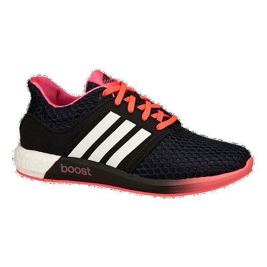 5dbe76596eda4 adidas Women s Solar Boost Running Shoes - Black Pink White