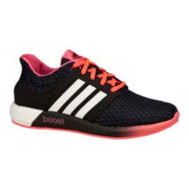 adidas Women's Solar Boost Running Shoes - Black/Pink/White