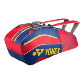 Yonex Tournament Active 6 Piece Racquet Bag - Red/Blue