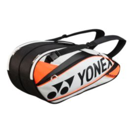 Yonex Pro Series 6 Piece Racquet Bag - White/Orange