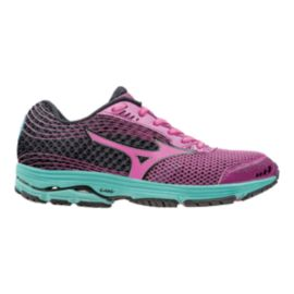 Mizuno Women's Wave Sayonara 3 Running Shoes - Black/Pink/Teal