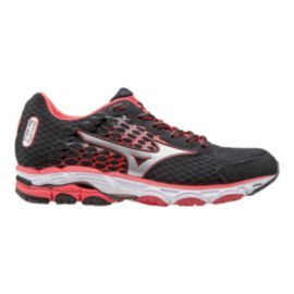 Mizuno Women's Wave Inspire 11 Running Shoes - Black/Red/White
