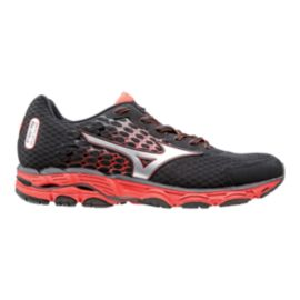 Mizuno Men's Wave Inspire 11 Running Shoes - Grey/Orange/Silver