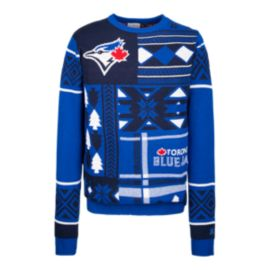 Toronto Blue Jays Ugly Patchwork Crew Sweater