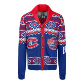 Montreal Canadiens Ugly Cardigan Sweater