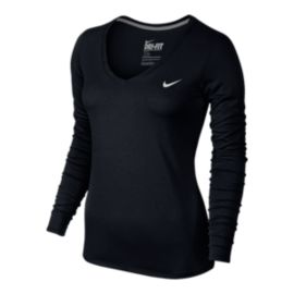 Nike Legend 2.0 V-Neck Women's Long Sleeve Shirt