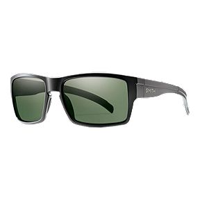 d4811f972a Smith Outlier XL Polarized Sunglasses - Matte Black with Grey Green Lens