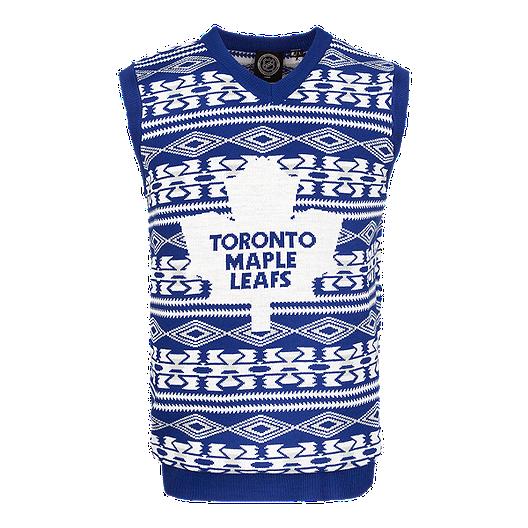 finest selection 92e90 1c1d6 Toronto Maple Leafs Ugly Vest Sweater | Sport Chek
