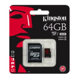 Kingston 64GB UHS-1 Class 10 Micro SD Card with Adaptor