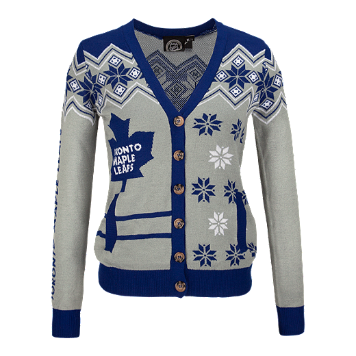new product 75bc9 adfcf Toronto Maple Leafs Ugly Cardigan Women's Sweater | Sport Chek