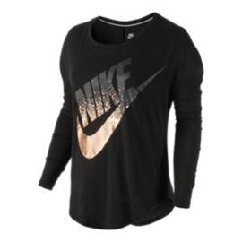 Nike Sportswear Signal Metallic Women's Long Sleeve T-Shirt