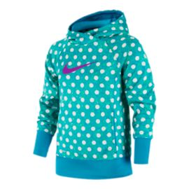 Nike Girls' KO 3.0 All-Over Print Over The Head Hoodie
