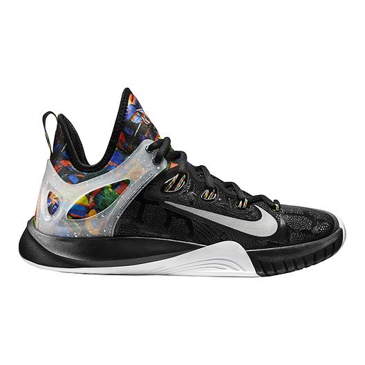d7f5aa3a844d Nike Men s Zoom HyperRev 2015 Premium Basketball Shoes - Black Multi Silver