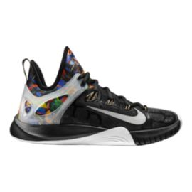 Nike Men's Zoom HyperRev 2015 Premium Basketball Shoes - Black/Multi/Silver