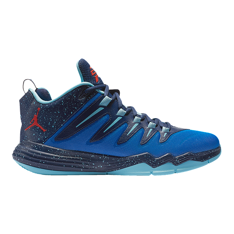 Nike Men s Jordan CP3.IX Basketball Shoes - Blue Navy Red  8b1e9dbc1
