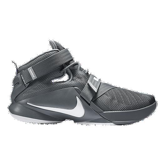 pretty nice 56952 cde07 Nike Men's LeBron Soldier IX Basketball Shoes - Grey | Sport ...