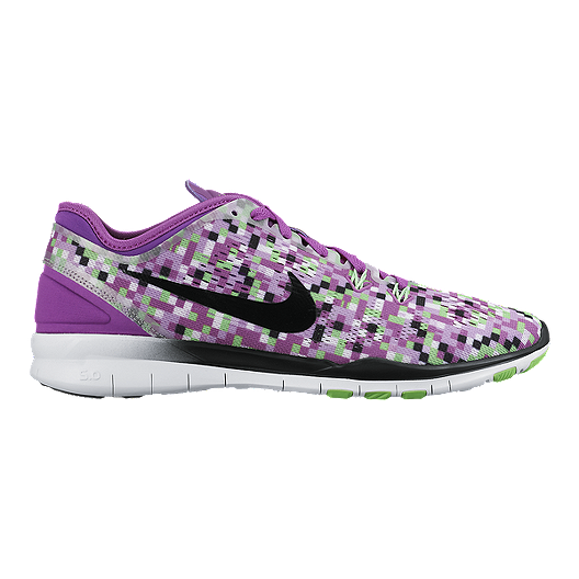 53cbd7af60976 Nike Women's Free 5.0 TR Fit 5 Print Training Shoes - Purple/Green/Black |  Sport Chek