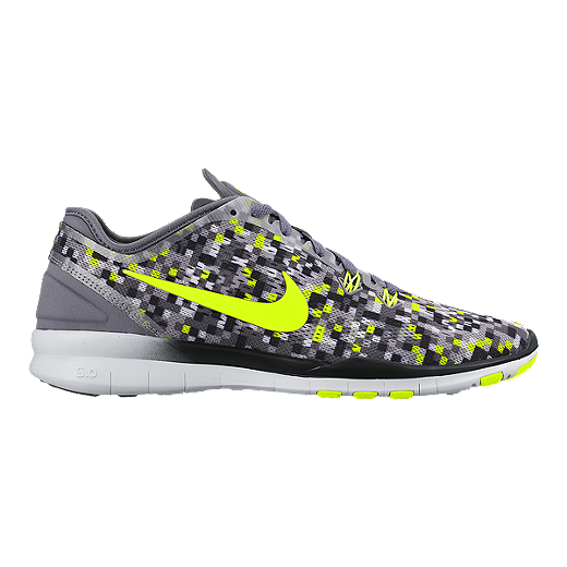 finest selection be0cd cacf3 Nike Women s Free 5.0 TR Fit 5 Print Training Shoes - Grey Yellow   Sport  Chek