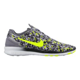 Nike Women's Free 5.0 TR Fit 5 Print Training Shoes - Grey/Yellow