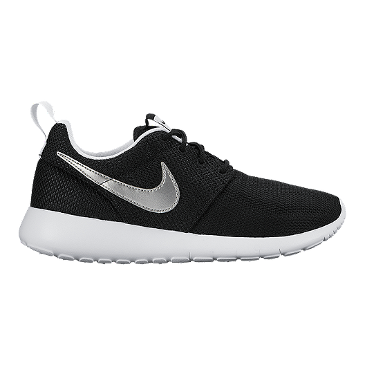 online store 651b0 1d141 Nike Kids' Roshe One Grade-School Shoes - Black/White